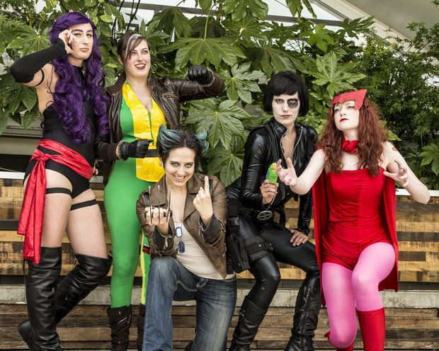 """""""Dames of Future Past,"""" the winning team in the 2014 Portland Geek Olympathon"""