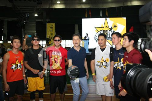 This is the handsome Daniel Padilla with the respective basketball team captains with Johnny Manahan during the ceremonial basketball tip-off during the start of the 2015 Star Magic Games held at La Salle Green Hills last May 3, 2015. Indeed, Daniel and these basketball captains are very athletic in addition to being Star Magic talents, and Mr. Johnny Manahan is the best talent manager, ever. #DanielPadilla #JohnnyManahan #MrM #StarMagicGames2015