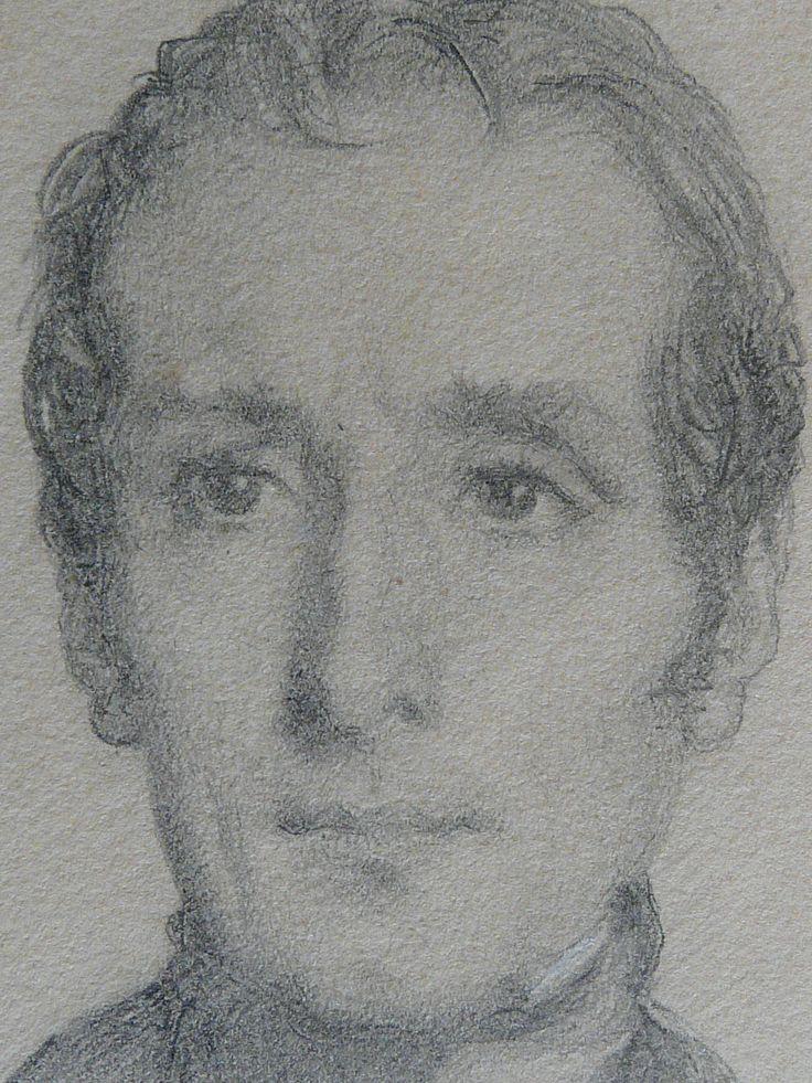 CHASSERIAU Théodore,1844 - Portrait de Lamartine - drawing - Détail 11