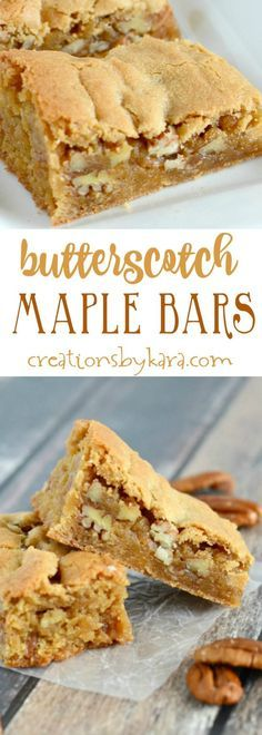 Give these rich and chewy Butterscotch Bars a try. They are a delicious bar cookie recipe! The maple gives them such amazing flavor.