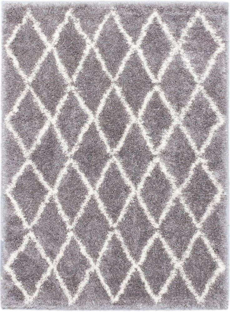 Labrador Diamante Dark Gray Shag Area Rug