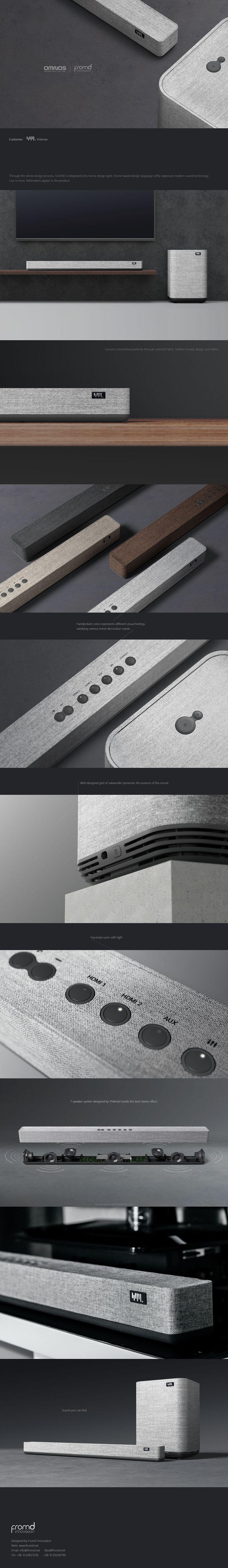 Product design: soundbar & subwoofer on Behance