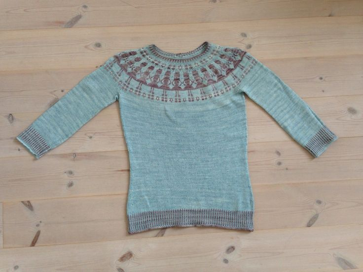 One of my first sweaters (Katie Davies pattern)