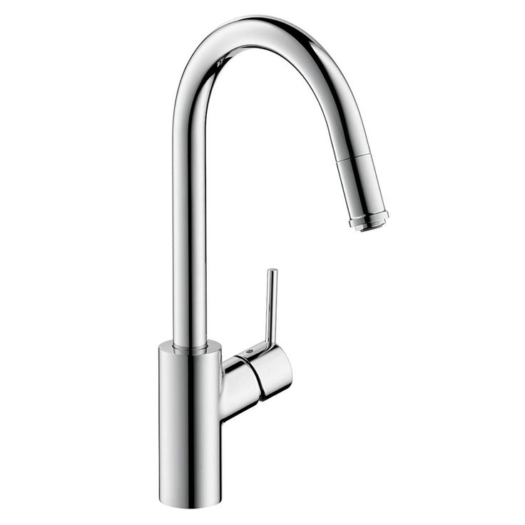Hansgrohe 14872001 Chrome Talis S Pull-Down 1-Spray Kitchen Faucet with HighArc Spout & Magnetic Docking