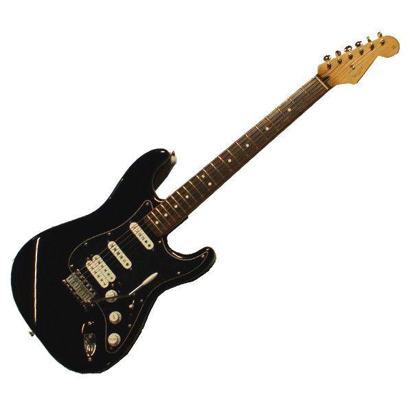 Fender Deluxe Power Stratocaster MIM 60th Anniversary Black HSS w/Piezo 2005-06