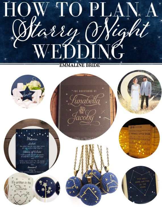 30 Ideas That Will Make Starry Night Weddings Your New Favorite ♥ | http://emmalinebride.com/vintage/starry-night-weddings-ideas/