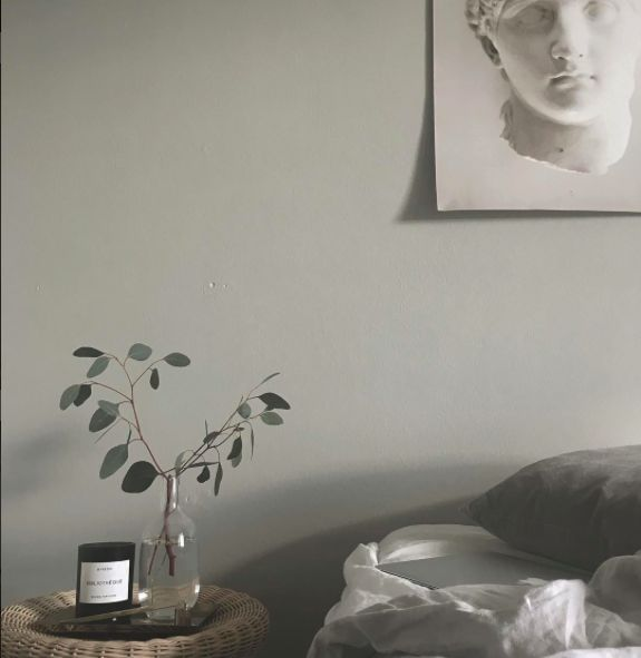 My bedroom. Byredo. Hilde Mork. Linen. Eucalyptus. Eero Aarnio.