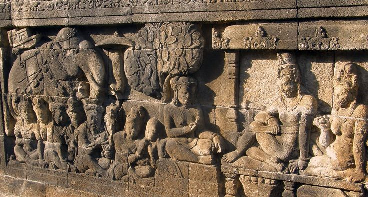 Relief of the Borobudur.