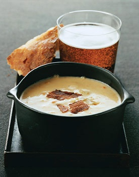 Cheddar Beer Soup for football watching