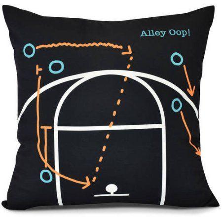 Alley Oop! Geometric Print Pillow, Black