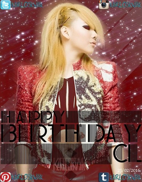Hoy es el Cumpleaños de #CL #2NE1 #HAPPYCLDAY #CLIS25ANDFAB
