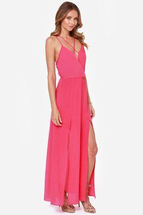 Reverse Take a Hint Fuchsia Pink Maxi Dress
