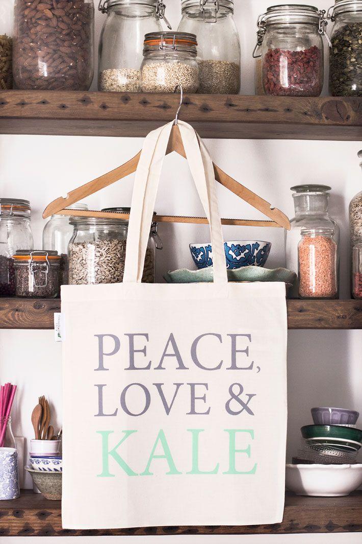 Peace, Love & Kale Tote