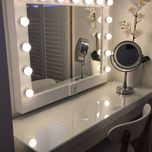 Super Sale Xl Hollywood Lighted Vanity Mirror Makeup Mirror With Lights Perfect For Ikea Malm Vanity Bulbs Not Included Makeup Mirror With Lights Lighted Vanity Mirror Hollywood Lighted Vanity Mirror Vanity mirror with lighted for sale