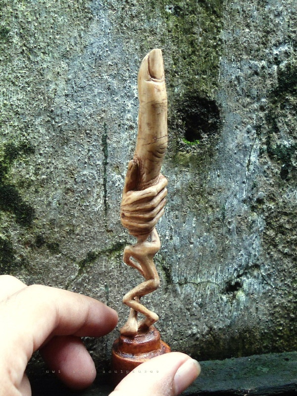 small wood sculpture