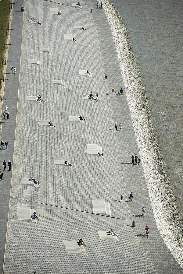 Promenade at Willy-Brandt-Platz, a renovated port on the North Sea in Bremerhaven, Germany. Click image for link to full profile and visit the slowottawa.ca boards >> http://www.pinterest.com/slowottawa