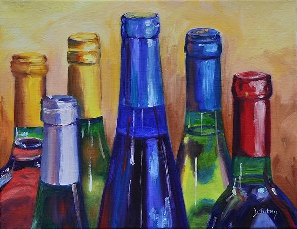 """Primarily Wine,"" 11x14 original oil painting on canvas.  To see more of my work, visit www.donna-tuten.artistwebsites.com"