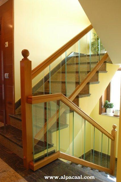20 best images about barandillas de escalera on pinterest - Pasamanos de madera para escaleras ...
