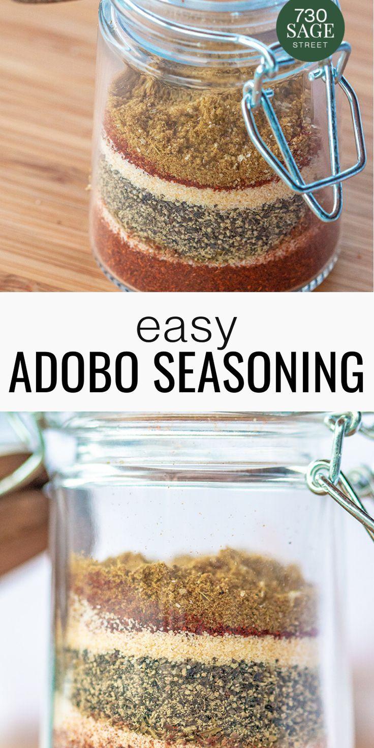 Easy Adobo Seasoning Adobo Seasoning Homemade Spices Seasoning Recipes