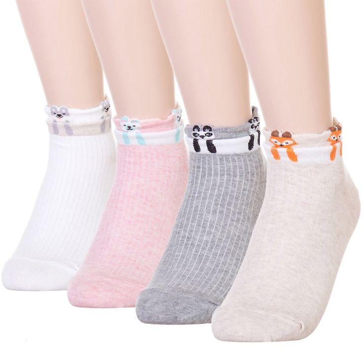 Dani's Choice Pet Animal Print Socks (One size, Dangling 4 Pairs)