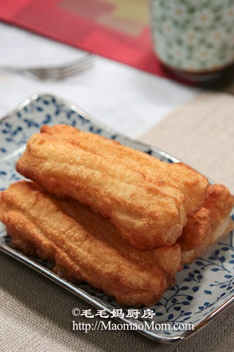 【油条】 Chinese fritters that are usually eaten with congee.