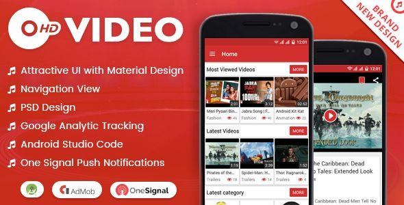 HD VIDEO + MATERIAL DESIGN - Codecanyon Free Download Source