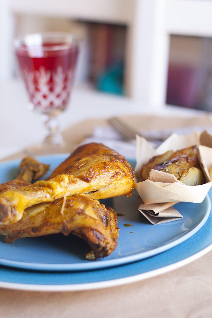 Pollo asado tandoori receta fácil
