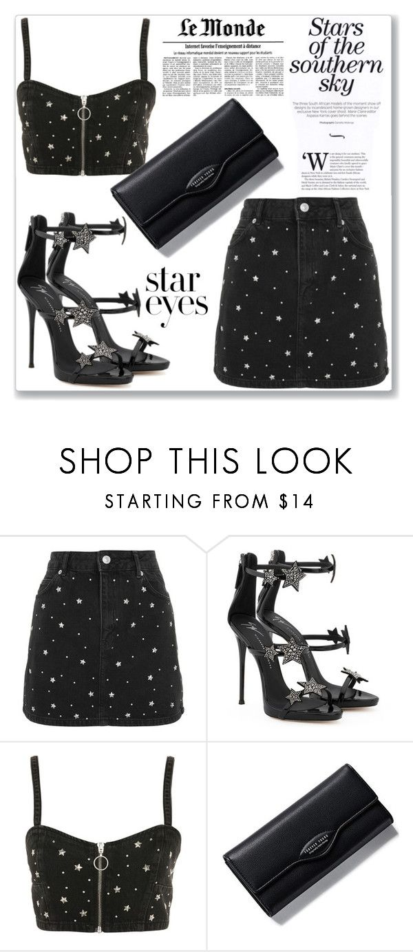 """Twinkle, Twinkle: Star Outfits Bagail"" by kiveric-damira ❤ liked on Polyvore featuring Topshop, Giuseppe Zanotti and StarOutfits"