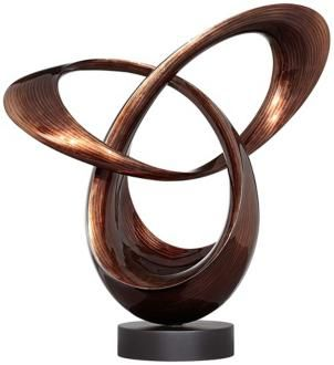 8th Anniversary Gift Idea: Infinity Loop Chocolate Bronze Finish Sculpture T8594