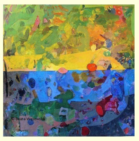 Beata Wąsowska, malarstwo Światło i cień, 80x80cm, olej na płótnie nr kat. 24-81 [2004]