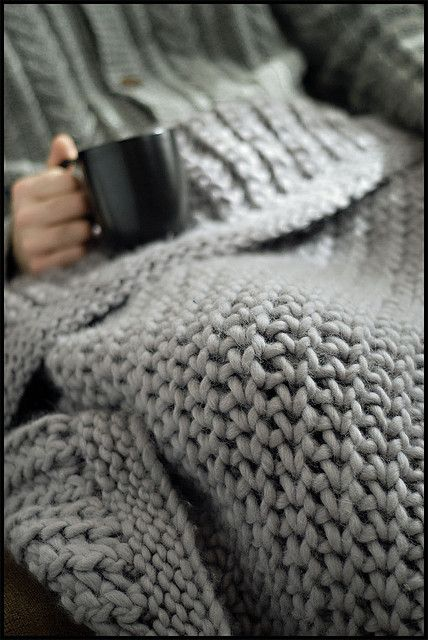 Merino Chunky Throw by brooklyntweed #knit #free_pattern
