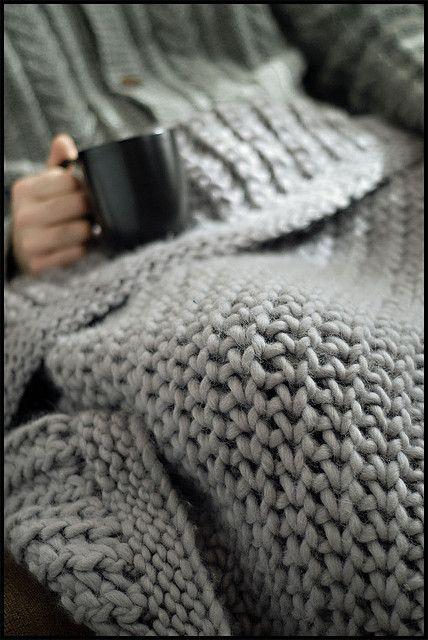 Merino Chunky Throw by brooklyntweed #knit #free_pattern