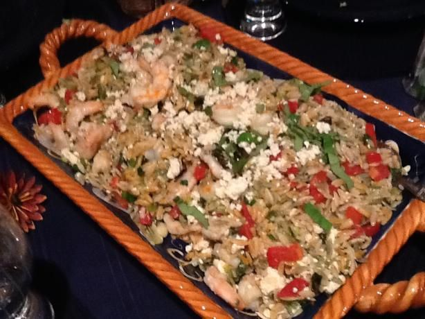 Basil Shrimp with Feta and Orzo from Food.com: I got this recipe from ...