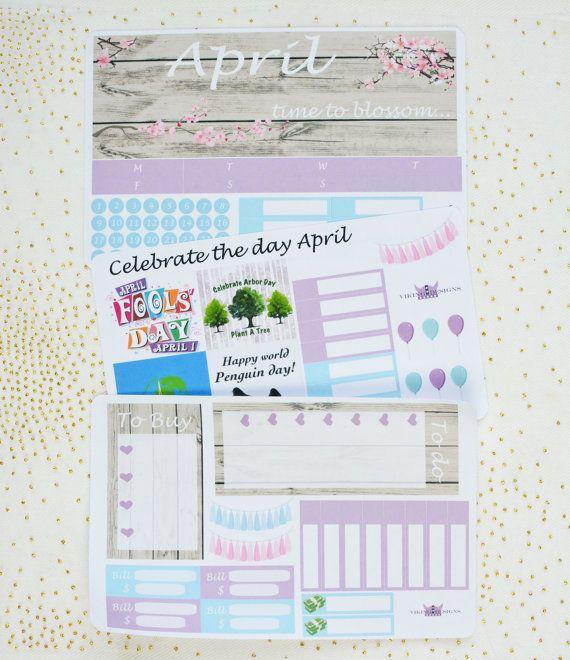 April Monthly Kit / Erin Condren Monthly