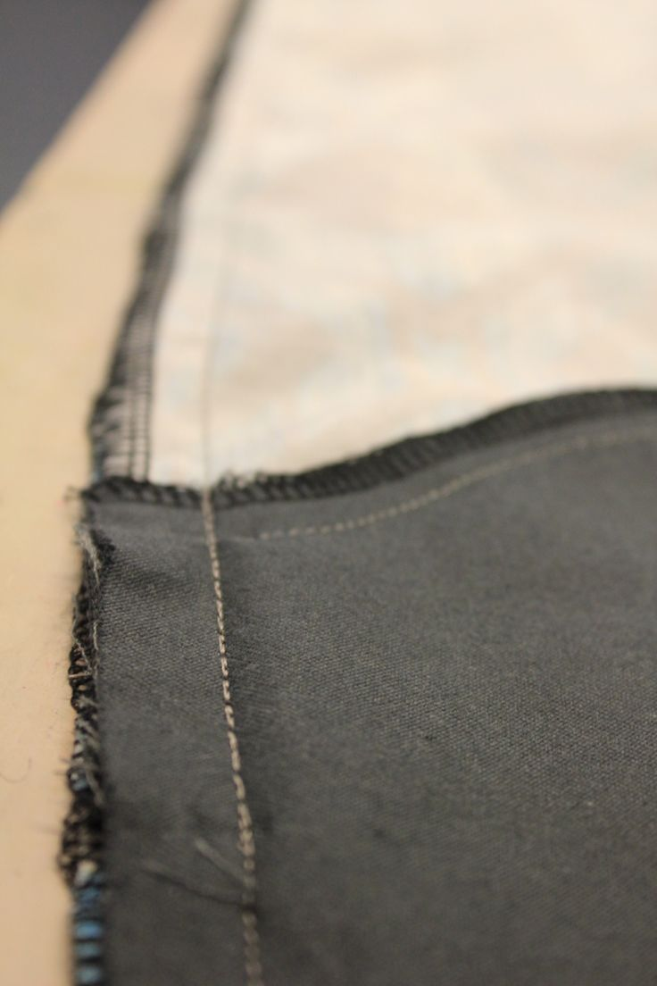 side seams of trouser fronts - view from inside.