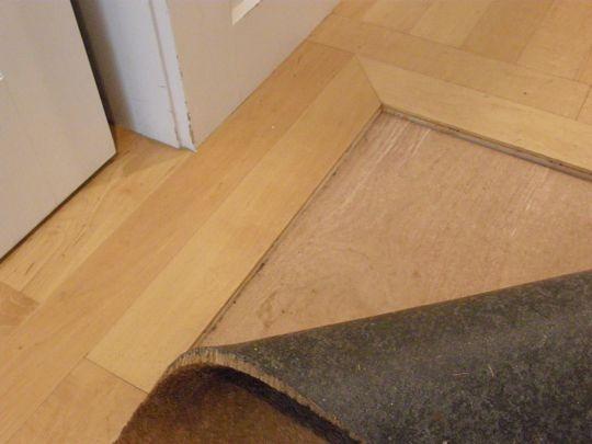 Look inlaid right into the floor doormat floors for Rug on hardwood floor pictures