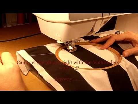 Sewing machine embroidery using any machine! Very helpful info :)