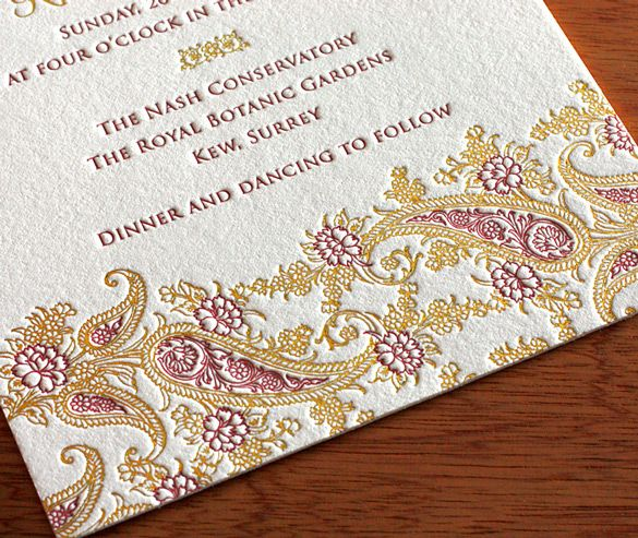 We can help you work the paisley motifs into your other enclosure cards, like maps, direction cards, and response cards.