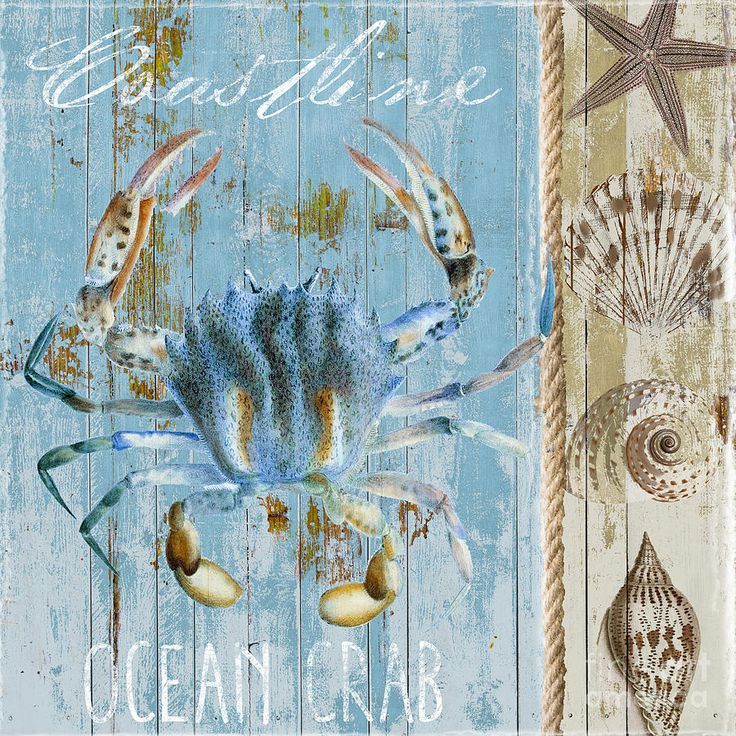 Fresh Fish Painting - Blue Claw Crab  by Mindy Sommers