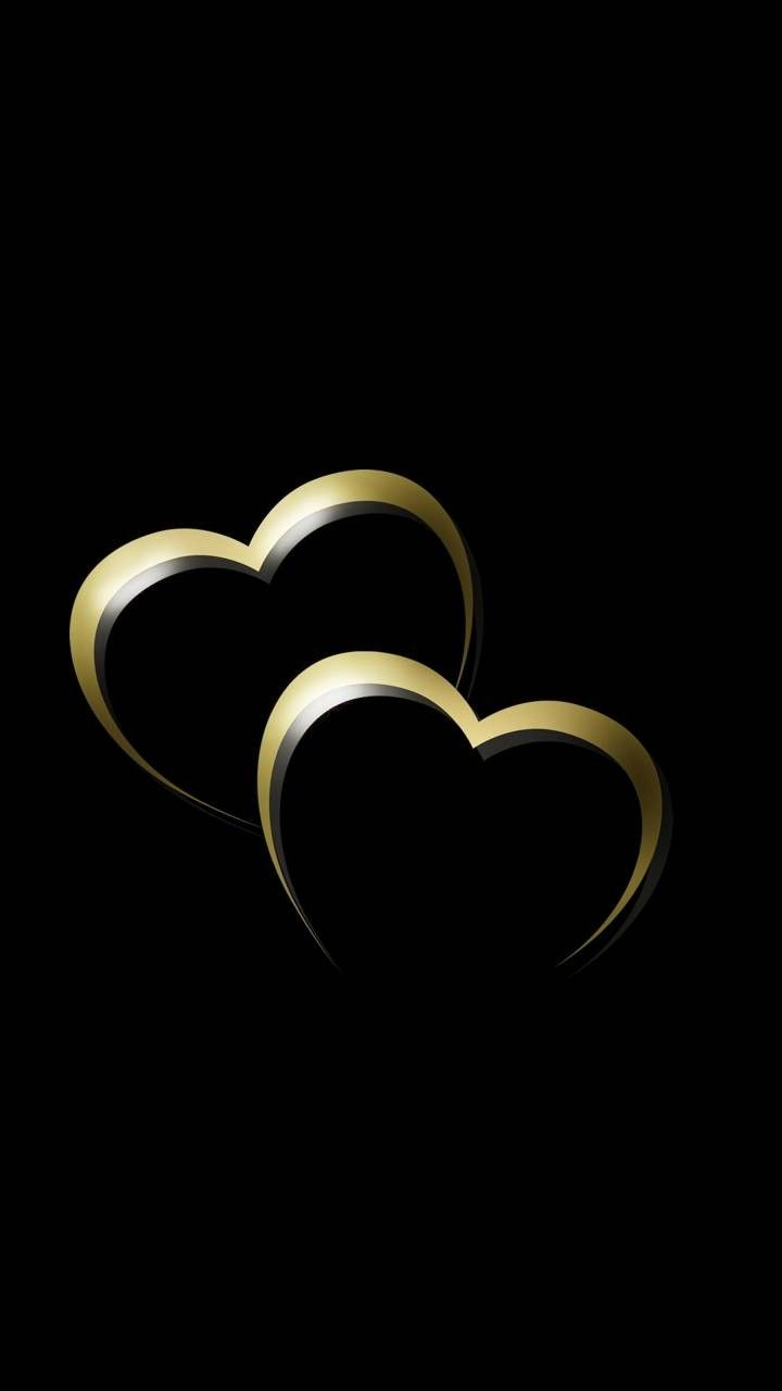 Black Gold Love Hearts Heart Wallpaper Phone Backgrounds