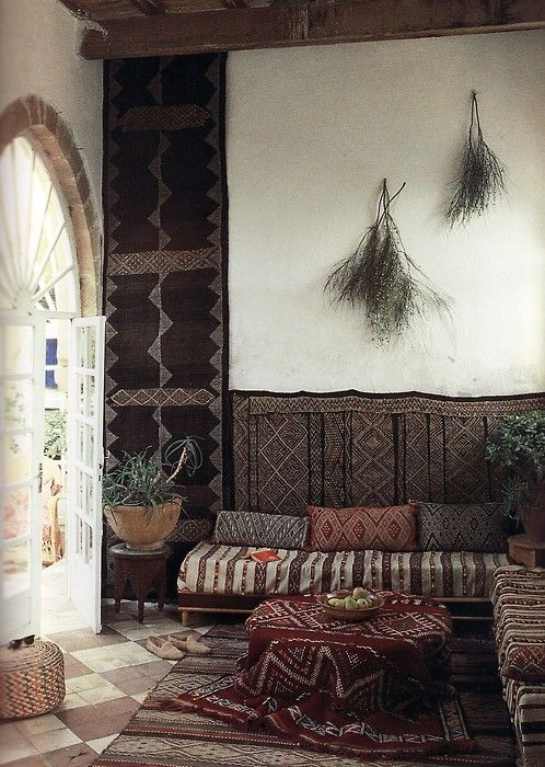Divan Styling: Drape Everything In Moroccan Capes U0026 Carpets.