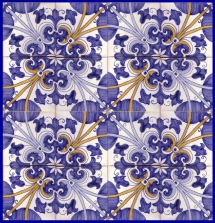 Sintra Antique Handpainted, Portuguese, Tiles - A1-Portuguese tiles - 33A -Sintra tile