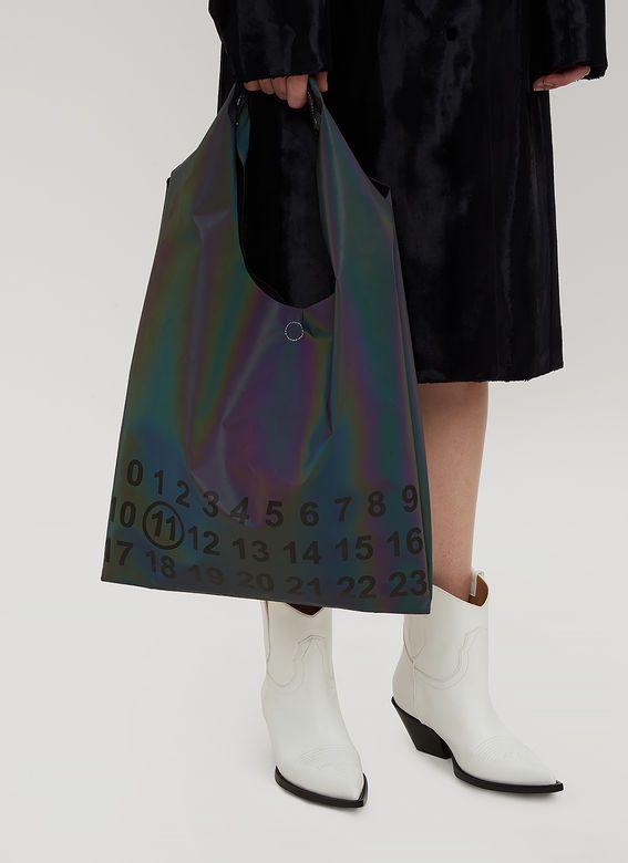 0a8d441900cd Maison Margiela Reflective Plastic Tote Bag