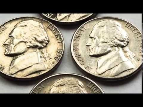 Rare Jefferson Nickels Worth Money 1970  1971  1972 D Five Cents Us