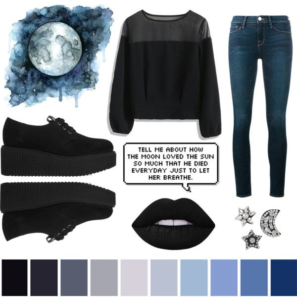Untitled #50 by pastellilapsi on Polyvore featuring Chicwish, Frame, Karl Lagerfeld and Lime Crime