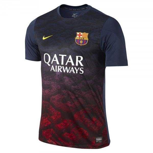 The FC Barcelona jersey has leaked. Made by Nike, the new Barcelona kit  will be released in May.