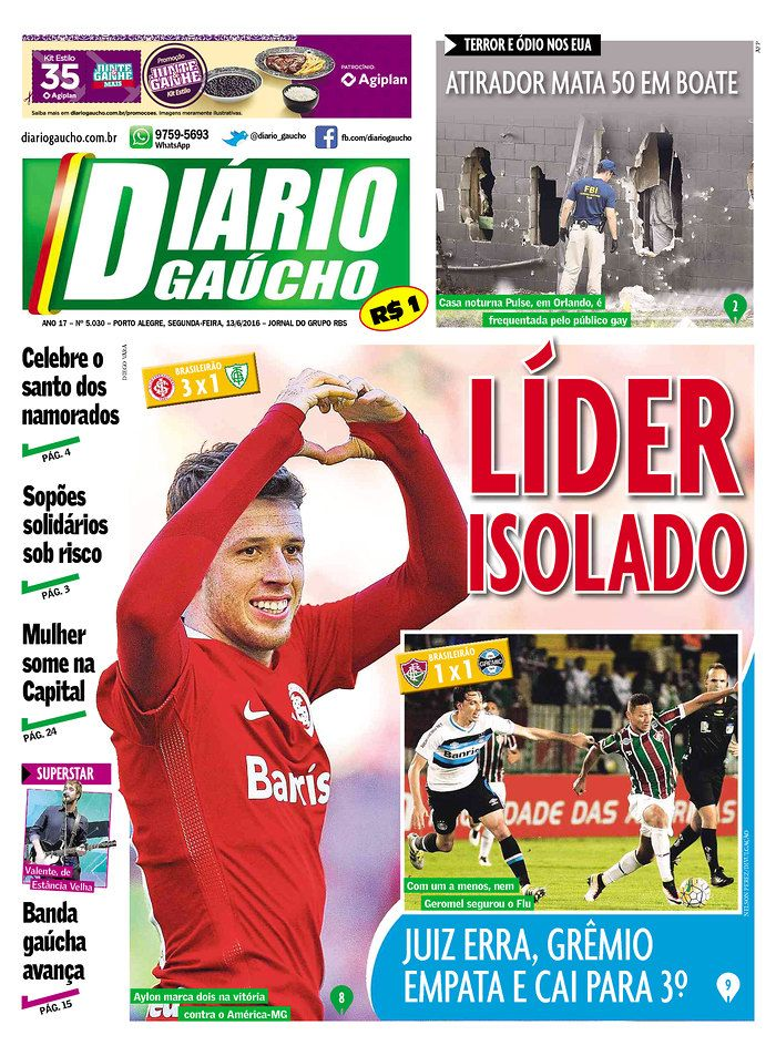 Diario Gaucho | Today's Front Pages | Newseum