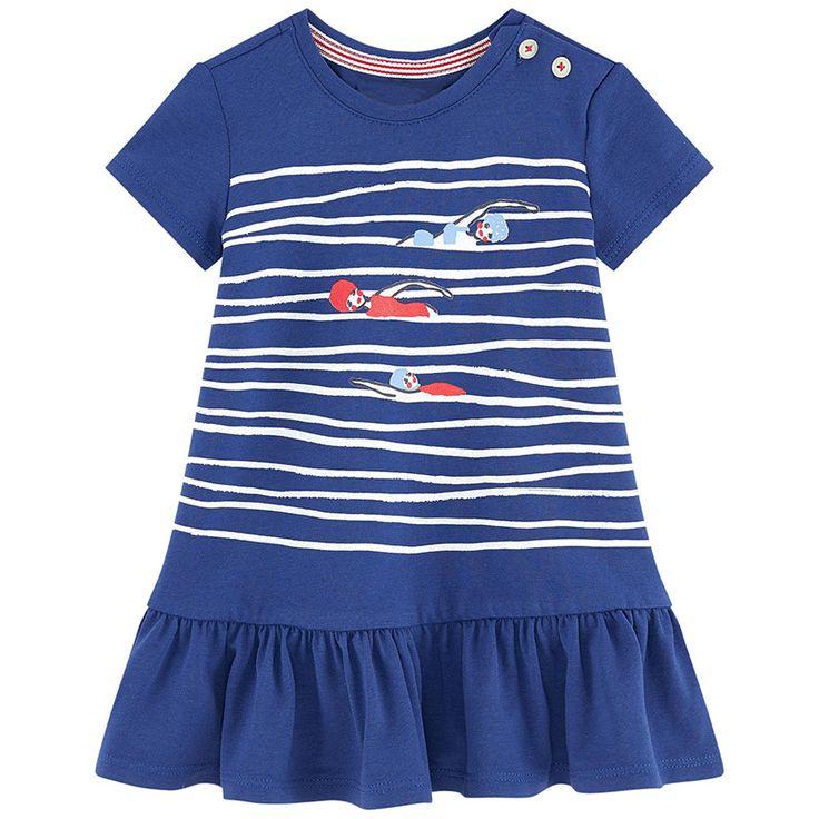 Szata Enfant Fille Dziewczyny Letnia Sukienka 2017 Marka Princess Dress Dzieci Kostium W Paski Zwierząt Drukuj Sukienka Ubrania Dla Dzieci Urodziny