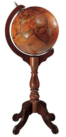 A wicked cool world globe on a pedestal...could sit in the music room.
