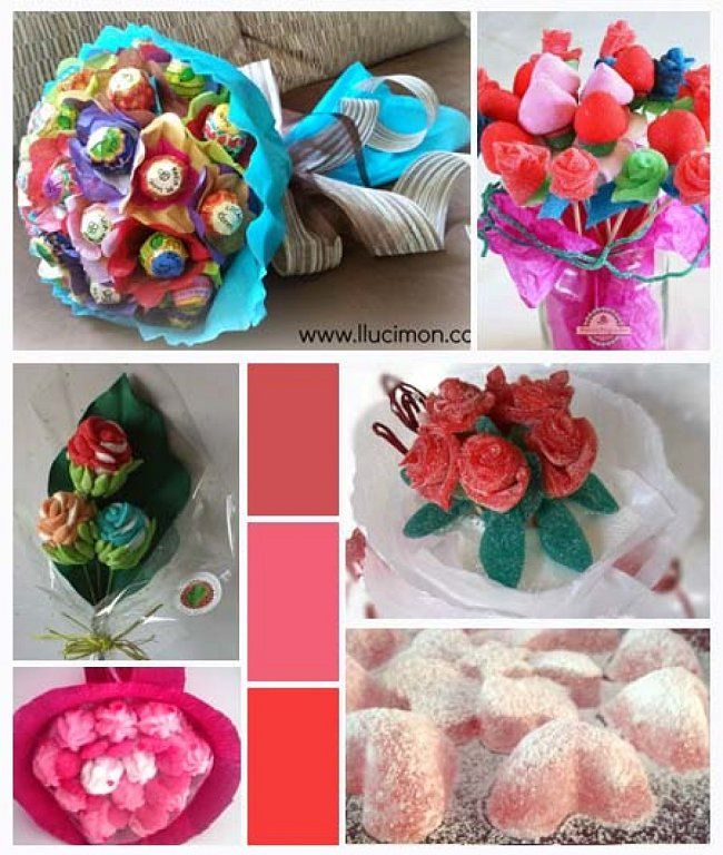 Gominolas iii ramos de flores dulces idees deco table - Como hacer ramos de flores ...